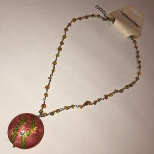 Catherine Stein pink pendant necklace